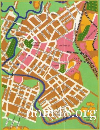 Карта города Чаплыгин (Раненбург) Липецкой области